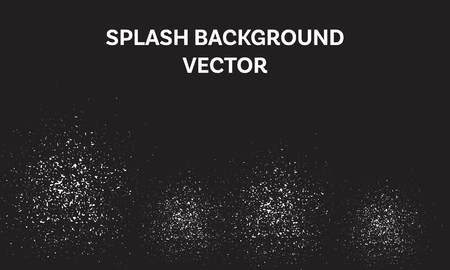 white splash on black background vector, abstract crumb illustration, particle tumble down