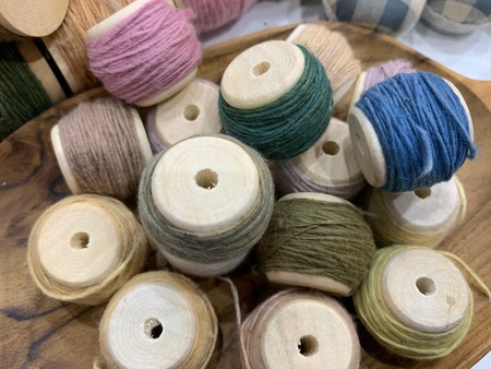 Multicolored yarn thread for embroidery, handmade craft