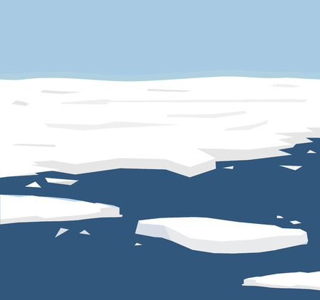 The illustration of reflects the current environmental problems of the polar ice melt, ice is constantly melting background, solve global warming Campaign vector Ilustrace