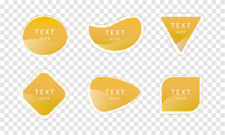 yellow mustard clear crystal premium banner on transparency background, elegant glossy element vector design,free form shape for decoration and advertisement