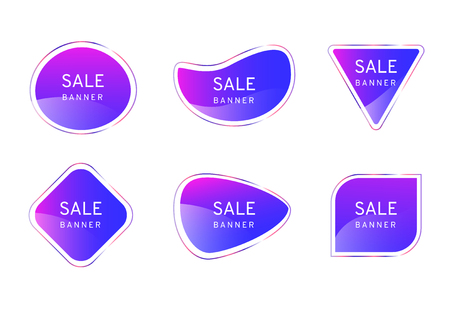 Pink Blue clear crystal premium banner on white background, elegant glossy element vector design,free form shape for decoration and advertisement