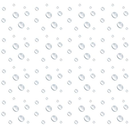 realistic water drop vectors as mirror glass background on white background, element design clean drop splash and rainy crystal vector  イラスト・ベクター素材