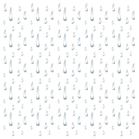 realistic water drop vectors on white background, banner element design, clear drop splash and rainy crystal illustration