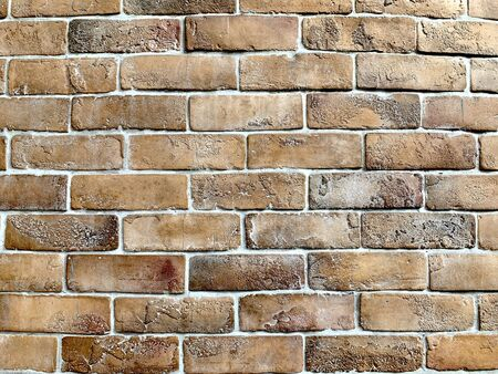 Closed up image of brown brick wall as vintage old style background and wallpaper Reklamní fotografie