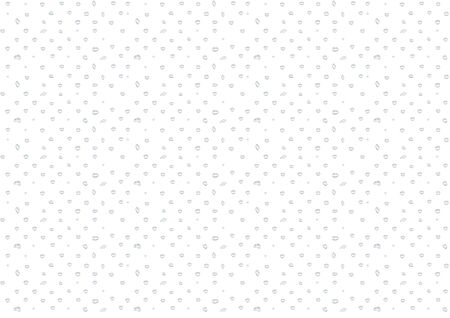Different shape of small or tiny water drops vector isolated on white background, Glass bubble drop condensation surface, element design clean crystal drop splash wallpaper design Ilustrace