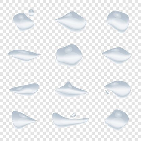 A water drops vector isolated on transparency background, Glass bubble drop condensation surface, element design clean crystal drop splash Archivio Fotografico - 138448045