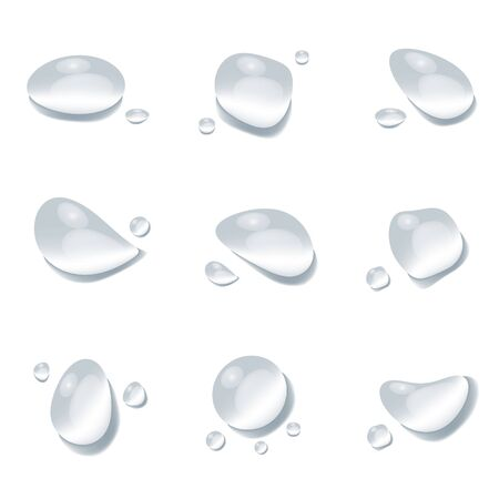 realistic water drop vectors isolated on white background, clear drop splash and rainy crystal illustration ep23