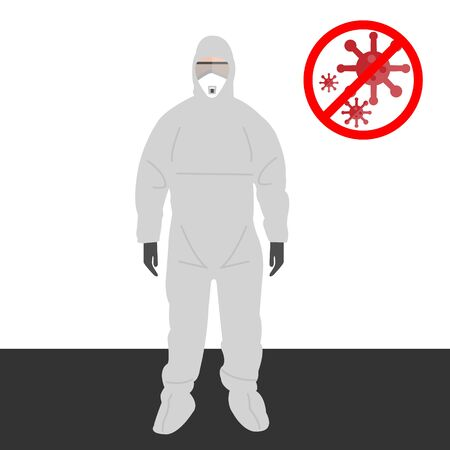 A set of Personal Protective Equipment or PPE suit for hospital officer healthcare.