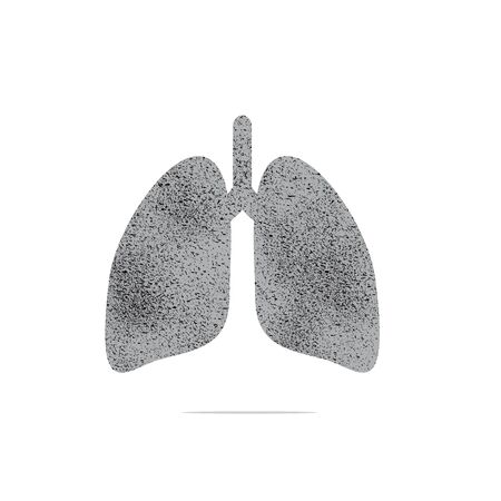 Human lung infection Lung pathogens are caused by dust and smoking vectors