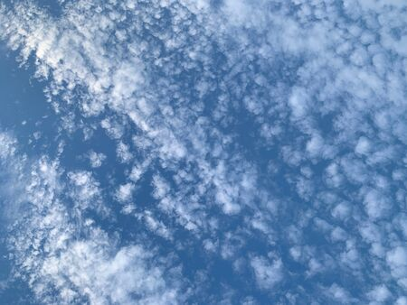 58 A white clouds floating in the blue sky, the cirrocumulus cloud as abstract background