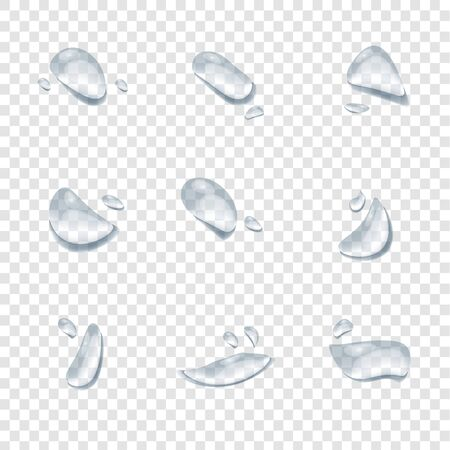 realistic water drop vectors isolated on transparency background ep32
