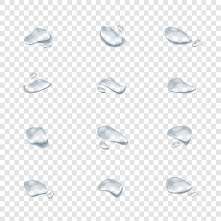realistic water drop vectors isolated on transparency background ep36 Çizim