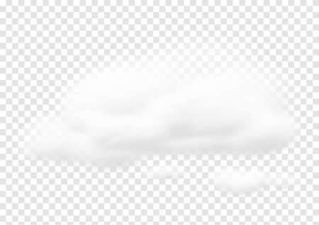 Realistic white cloud vectors isolated on transparency background, cotton wool ep57