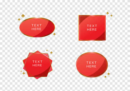 ruby red premium banner, tag sale vectors isolated on transparency background 일러스트