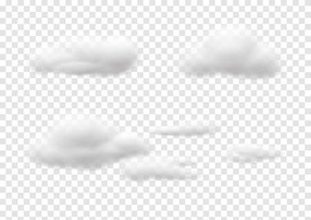 cloud vectors isolated on transparency background ep67