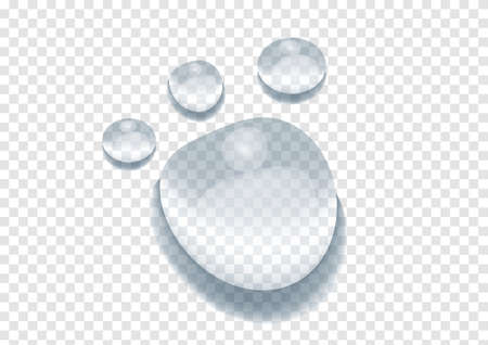 realistic water drop vectors isolated on transparency background ep58 Ilustracja