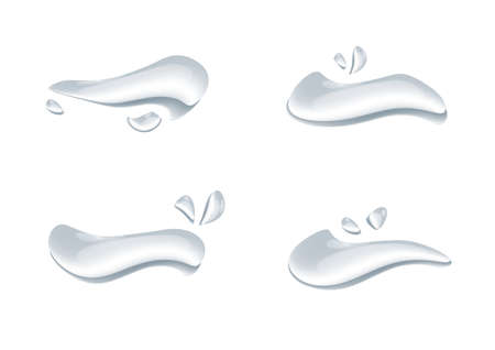 realistic water drop vectors isolated on white background ep61