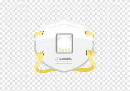 N95 particulate respirator mask vectors for filter dust and antivirus isolated on transparency background ep05 Vektorgrafik