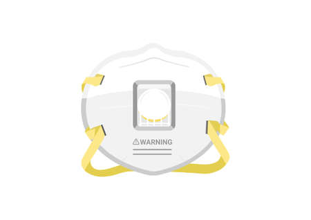 N95 particulate respirator mask vectors for filter dust and antivirus isolated on white background ep05
