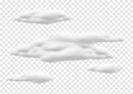 realistic cloud vectors isolaed on transparency background ep82