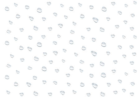 realistic waterdrop vectors isolated on white background ep67