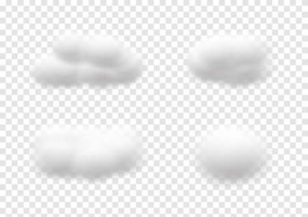 realistic cloud vectors isolated on transparency background ep83 矢量图像