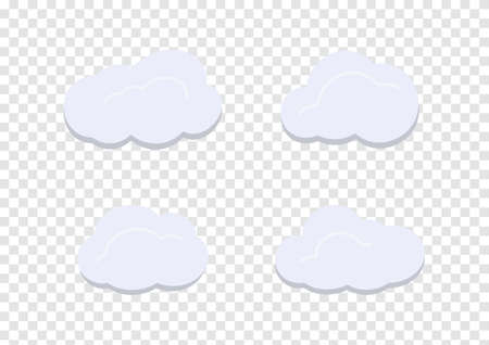 cloud vectors isolated on transparency background
