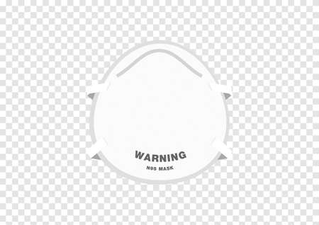 realistic hygienic white mask vectors for corona virus filter isolated on transparency background ep09 矢量图像