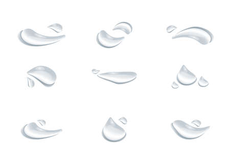 realistic waterdrop vectors isolated on white background