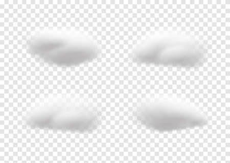 realistic cloud vectors isolaed on transparency background ep85 矢量图像