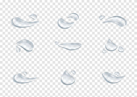 realistic waterdrop vectors isolated on transparency background ep70 矢量图像