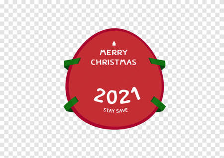 Happy new year 2021 christmas mask to protect corona virus Covid19 vector isolated on transparency background ep19