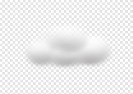 realistic cloud vectors isolated on transparency background ep88 矢量图像