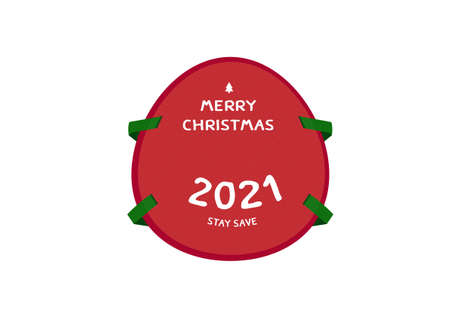 Happy new year 2021 christmas mask to protect corona virus Covid19 vector isolated on white background ep19
