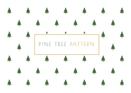 Christmas pine tree pattern vector for Happy new years Celebration festival