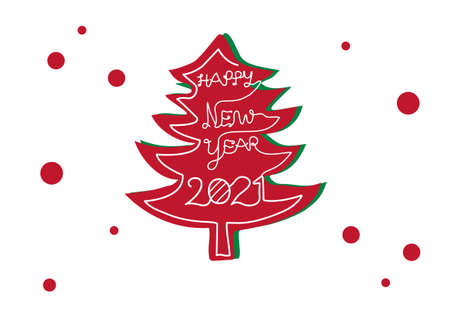 Christmas pine tree vector for Happy new years 2021 Celebration festival ep11