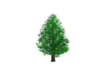 Merry christmas pine tree vector on white background