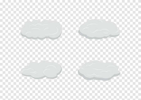 cloud vectors isolated on transparency background ep116