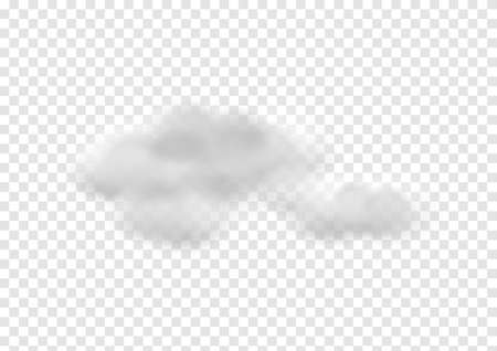 realistic cloud vectors isolated on transparency background ep106