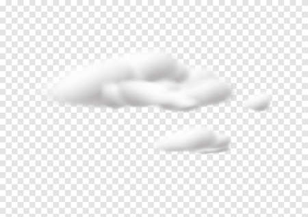 realistic cloud vectors isolated on transparency background