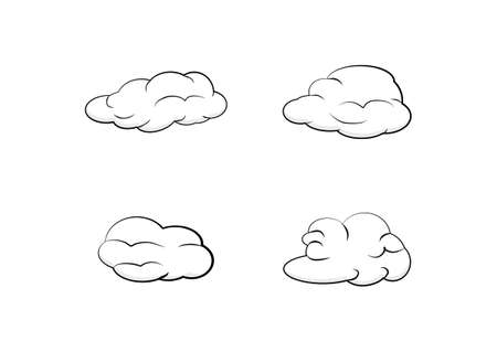 cloud vector isolated on white background ep153 Ilustración de vector