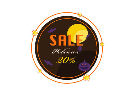 halloween banner vector isolated on white background ep07