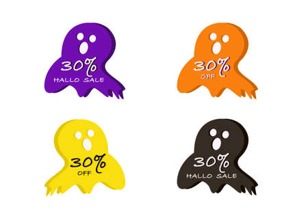 halloween banner vector isolated on white background ep05