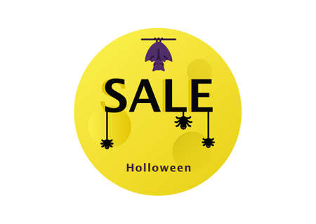 halloween banner vector isolated on white background ep06