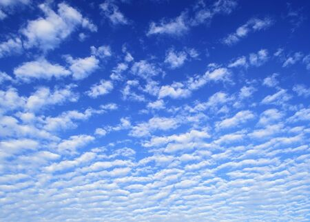 striated: Striated white clouds background on blue sky