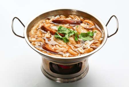 maw: fish maw soup Stock Photo