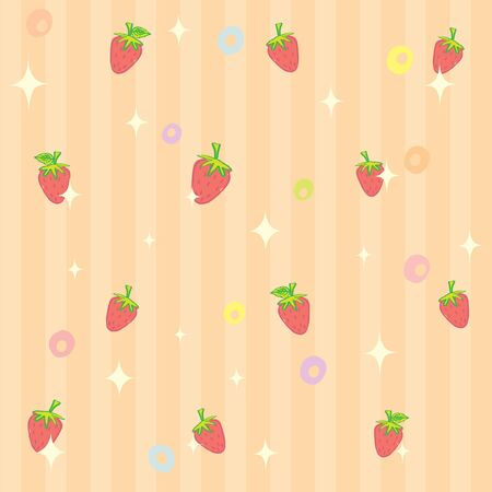 reflective: Strawberry pattern stripe background with reflective light
