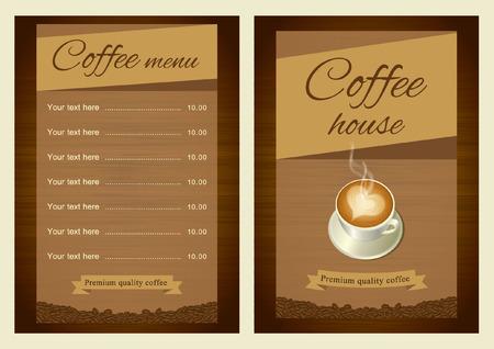 background house: Coffee shop menu brown scheme.