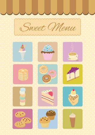 blueberry cheesecake: Menu cafe for bakery dessert and coffee shop.