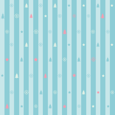 christmas backdrop: Seamless blue stripe pattern of christmas ornament for wallpaper, backdrop background banner or wrapping paper gift.